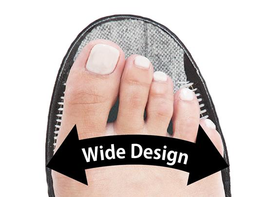 Comfortable comfort in a wide wide design